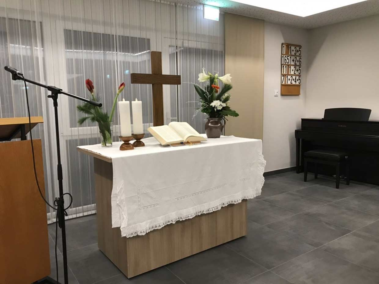 Gottesdienst zur Einweihung des Andachtsraums