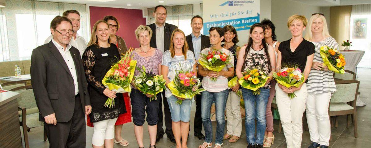 Am 13. Juli 2018 feierte die Diakoniestation Bretten, der neue ambulante Pflegedienst des Evangelischen Stift Freiburg in Bretten, ihre Eröffnung.